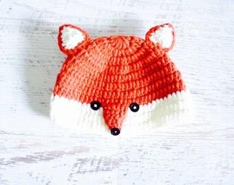 Little Fox Crochet Hat For Baby