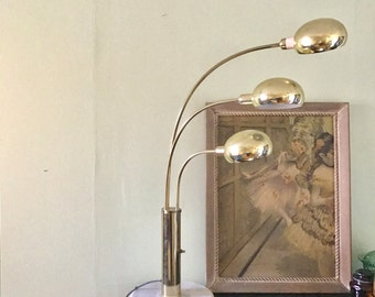 Midcentury Brass Table Light