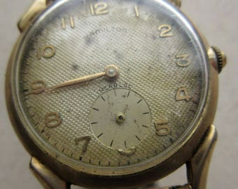 Hamilton Incubus Watch 10KT GF ~ Vintage JB Champion 10 GF Wristwatch Band