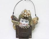 OOAK Angel Ornament Antique Doll Assemblage Art Latch Fairy Keepsake