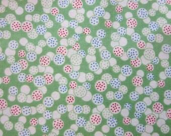 Riley Blake -  Hope Chest 2 Circles - Green - C5167 - 7.99 A Yard