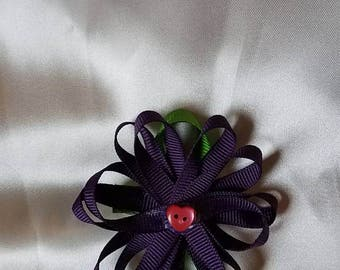 Purple daisy bow