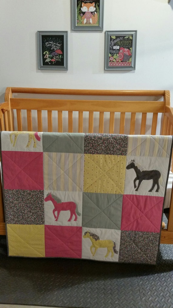 Toddler Bedding Baby Quilt Horse Elephant Any Animal Any