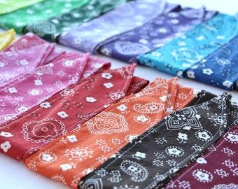 Headband Bandana Fabric Rockabilly Boho Retro Pin Up Women Teen Girls Hair Accessory Headscarf