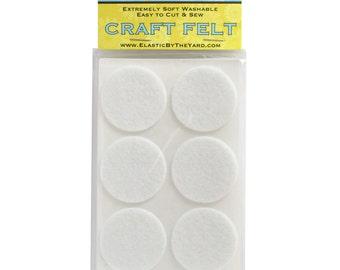 "48 - 1.5"" White Adhesive Felt Circles"