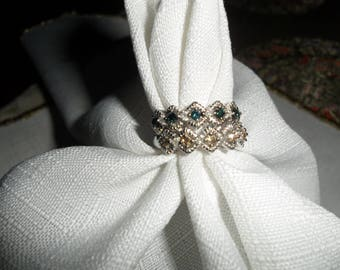 Vintage Diamond Sterling Silver Stacking Rings Size 7