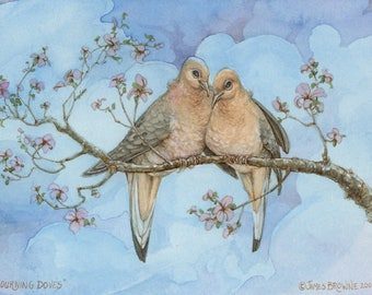 Love Doves signed 8.5x11 Print