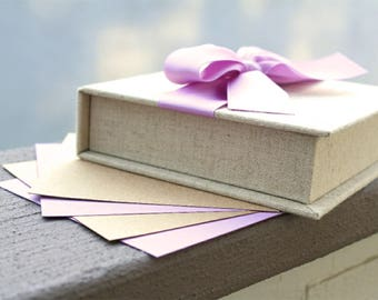 Baby or Wedding Wish Box. Shower Advice Box. Guest Book Alternative. Shown in Warm Linen/Lavender.