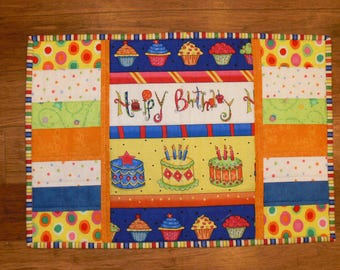 Happy Birthday Quilted Placemat