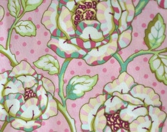 1.5 Yards - Flannel: Heather Bailey - Freshcut - Cabbage Rose (pink)