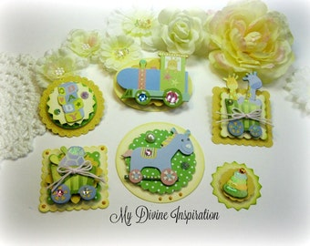 Baby Paper Embellishments, Scrapbook Embellishments, Mini Album Embellishments, Card Embellishments for Baby Girls or Boys