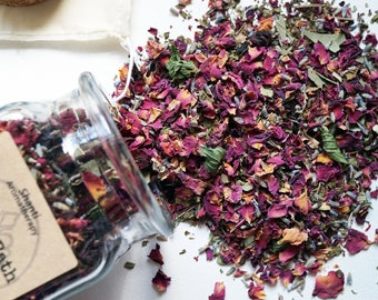 Mothers Day Floral Bath Tea for Stress Relief and Relaxation - Organic Herbs - gifts for Mom, gifts for women
