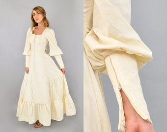 70's Quilted GUNNE SAX Dress