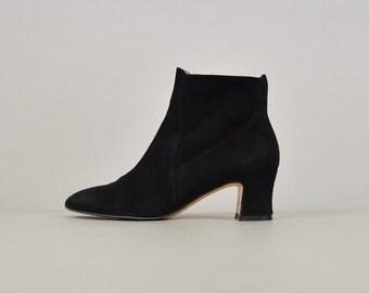 90's FERRAGAMO Black Ankle Boots (US 5.5)