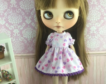 Blythe Dress with sleeves  - Hearts