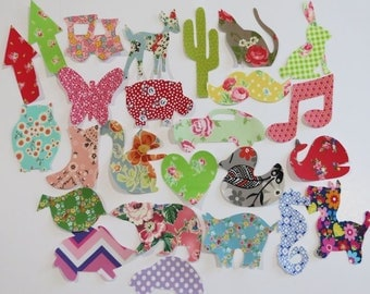 25 Iron on Appliques Baby Girl Appliques Baby Shower Activity