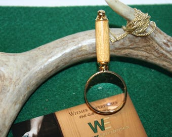 Handcrafted Yellow Heart Mini Magnifying Glass Pendant in a Beautiful 24ct Gold Finish