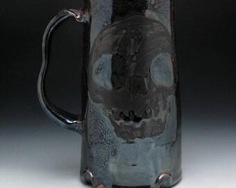 Evil Dead Skull Beer Stein in Dark Bronze Glaze