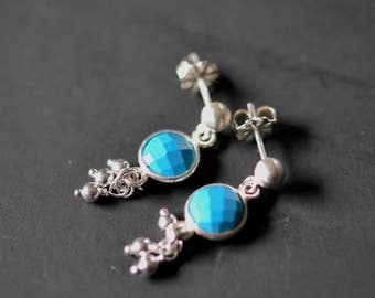 turquoise trill stud earrings