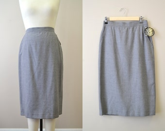 1980s NOS Giorgio Sant'Angelo Gray Wool Skirt