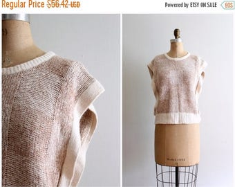SPRING SALE early 80s ladies sweater vest - 80s silk & angora sweater / New Wave - 80s checkered sweater / 80s Valley Girl sweater vest