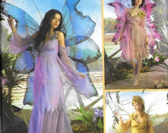 Simplicity 3632 Fairy Butterfly Angel Gothic Costume Sewing Pattern UNCUT Size 14, 16, 18, 20