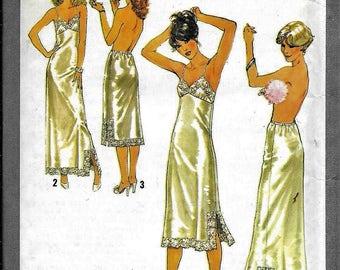 Vintage Simplicity 8862 Misses Slip, Half Slip, Full Slip Lingerie Sewing Pattern Size 14 UNCUT