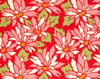 Heather Bailey for Free Spirit - GINGER SNAP - Poinsettia in Red - By The Yard