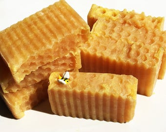 Amish Honey & Unrefined Shea Butter Natural Honey Bee Soap to Rejuvinate and Moisturize Your Skin
