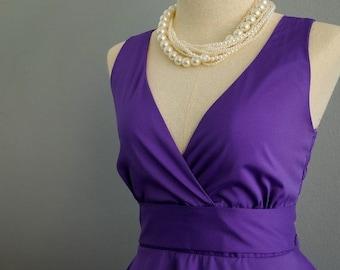 Christmas SALE My Lady II Spring Summer Sundress Dress Royal Purple Party Dress Purple Bridesmaid Dress Garden Party Sundress Royal Purple D