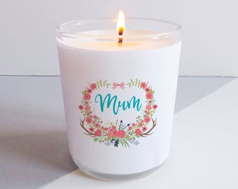 Floral Mum Candle