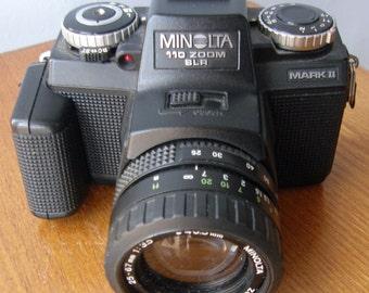 Minolta 110 Zoom SLR Camera Mark II with 25-67mm f3.5 Zoom Rokkor Macro Lens