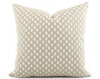 Sahara Beige Decorative Pillow Cover, Cream Throw Pillow, 18x18, 20x20, 22x22 Euro or Lumbar Pillow, Beige and Cream Pillow, Accent Pillow