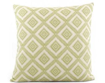 Lime Green Pillow Cover 18x18, 20x20, 22x22 Eurosham or Lumbar, Green Pillow, Outdoor Throw Pillow, Toss Accent Pillow, Pineapple Grove