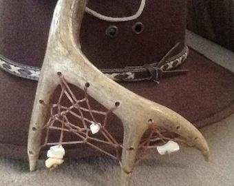 Deer AntlerDreamcatcher w/ shell