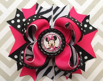 Minnie Mouse Hair Bow || Mickey Mouse Hair Bow || Minnie Mouse Birthday || Minnies Bowtique || Minnie Mouse Birthday Outfit ||