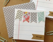 Mini Note Cards With Handmade Envelopes Set of 2 Grey Dots Gift For Teacher Gift Under Ten Stocking Stuffers