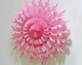 Pink Snowflake Tissue Paper Fans 8 Inch Diameter 2 or 4 Pieces / Weddings / Showers / Birthdays / Parties