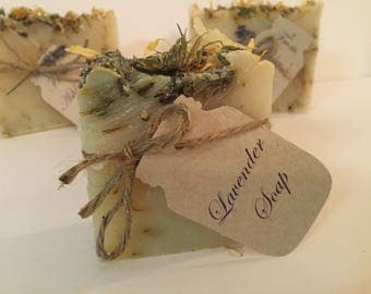 Soap wedding favor, shower favor  Natural lavender handmade soap wrapped with twine! Handmade Soap Lavender,  Vintage Inspired Decor