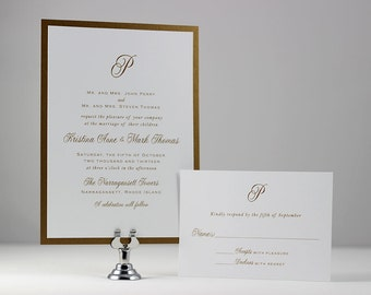 Gold Monogram Wedding Invitations, Wedding Invites, Gold Monogram, Elegant Wedding, Printable Wedding Invitations, Wedding Monogram