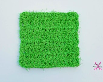 Crochet Pattern - Scruffy Square Scrubber dish kitchen scrubber crochet pattern pdf