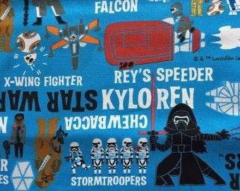 Star Wars fabric Half yard blue colour Anime Star wars