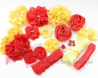 Beauty and Beast Red and Yellow DIY Headband Kit
