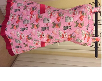Puppy Love  Full Ladies Apron Ready to ship