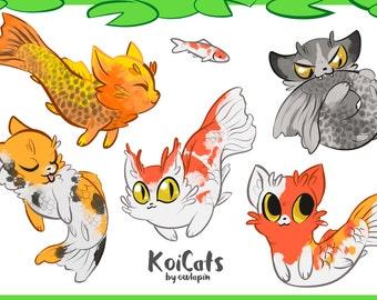 KoiCats Sticker Sheet
