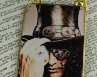Slash Guns And Roses Guitar Rear View Mirror Charm Hanging Ornament Handcrafted Rock And Roll Ornament