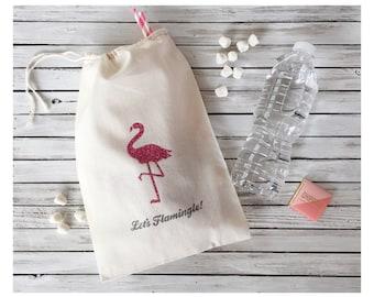 Let's Flamingle Welcome Bags - Bachelorette Party Favor - Flamingo Party Favor Bags - Flamingle Party Favors - Flamingo Bachelorette Favors