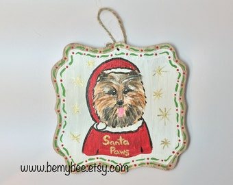 Santa Paws Hand Painted Ornament