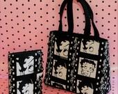 RARE Girl On Film BETTY BOOP Handbag Purse & Personal Wallet Silent Film Strip Black White Movie Theater Pin Up Girl