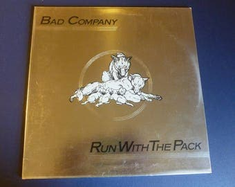 Bad Company Run With The Pack Vinyl Record LP SS 8415 Swan Song Records 1976